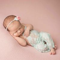 Neue Baby Mädchen Strampler Jumpsuits Neugeborenes Baby Lace Strampler Infant Kleinkind Foto Kleidung Blume Bodysuits 0-3m