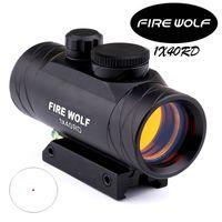 2017 NEW FIRE WOLF 1x40 Охота Tactical Голографическая Red Dot прицел прицел с Bubble Level Оптические инструменты