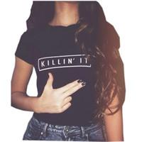 تي شيرت للمرأة أزياء ماركة الملابس تي شيرت قتل في ذلك kawaii أعلى المحملات القمصان النسائية لطيف القمم تيز البسيطة الزى NV11 RF