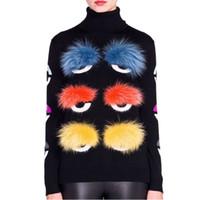도매 - 유럽 디자인 패션 고품질 가을 활주로 여성 긴 소매 니트 섹시한 스웨터 풀오버 양모 스웨터 여자