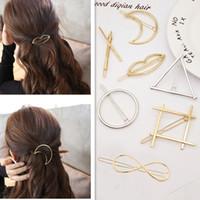 2017 Nuovo accessorio dei capelli di stile coreano Moon Lip Mouth Cerchio Triagle Star Hair Clips Forcine per le donne Ragazze