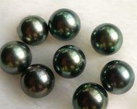 좋은 천연 둥근 8.5, 9.5,10.5 11.5 12.5mm 타히티안 블랙 진주 한알 홀 껍질 벗겨진 진주 구슬