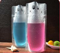 500 stücke 450 ml Transparent Selbst verschlossenen Kunststoff Getränkebeutel DIY Getränkebehälter Trinksack Fruchtsaft Lebensmittel Aufbewahrungstasche