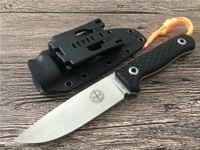 최신 포스 포스 Lionsteel 고정 나이프, D2 스틸 야외 전술 칼, 서바이벌 캠핑 도구, 컬렉션 사냥 칼