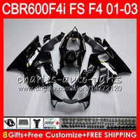 8Gifts 23Colors For HONDA gloss black CBR 600 F4i 01- 03 CBR6...