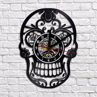 Creative SKULL Design Large Home Exclusive Wall Clock 3D Mad...