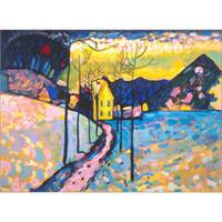 الفن التجريدي الحديث واسيلي كاندينسكي اللوحات الزيتية قماش Winterlandschaft I. ديكور جدار مرسومة باليد