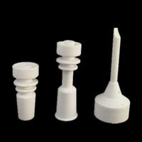 1set Ceramic Nagel + Carb Kappe Dabber Glas Bong Wachs Stift Werkzeuge Rig Rigs Öl Kliesche männlichen famele 18mm 14mm Bongs Schüssel Wasserpfeife Rauchen Zubehör