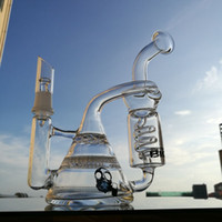 Dhgate Recycler bong thick ass glass Dab rig honeycomb perc ...