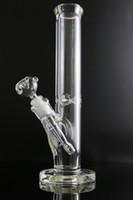 Hookahs Super Heavy 9mm Vidro Bongo 35cm Straight Ice Espessura Elefante Joint Waterpipe com 14/18 Downstem 14mm tigela
