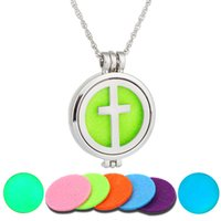 2017 NEW Perfume Disffuser Luminous Necklaces The Cross Arom...