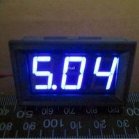 Freeshipping Mini 4.5-30VDC Digital Spannungs Panel Meter DC 4.5V bis 30V blaue LED Digital Voltmeter DC Voltage Monitor Meter6v 9v 12vred grün