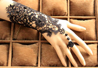 Fashion 2018 Bridal Lace Gloves With Flower Ring Faux Pearls...