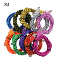 1m 2m 3m Micro USB Cable 3FT 6FT 10FT Nylon Woven Cords Micr...