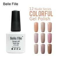 Wholesale- Belle Fille Gel Nail Polish Nude Colors Nail Varni...