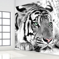 Wholesale- Black And White Tiger Wall Papers Roll Living Room...