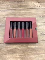 Em estoque!! Maquiagem Hot Wake Mini Lip Gloss Set Líquido Batom 6 Pçs / Set 6Colors Alta Qualidade DHL Frete Grátis A08