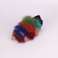 2017 new style women fashion real fox fur Slippers high qual...