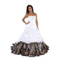 2017 Newest Elegant Camouflage Wedding Dresses With Applique...
