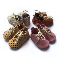 New desgin baby tassel moccs with shoelace, real leather frin...