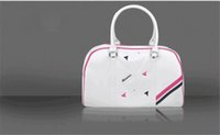white pink HONMA golf boston bag for women High grade PU lea...