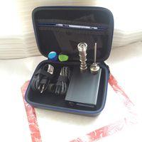 블랙 케이스 전기 E dab 네일 dab 장비 기화기 왁스 건조 허브 디지털 컨트롤러 상자 E quartz 티타늄 dabber 네일 domeless 티타늄 16mm