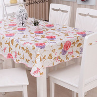 Fashion PEVA Tablecloth Oilproof Easy To Wipe Waterproof Square Rectangular  Plastic Toalha De Mesa Printed Coffee Tafelkleed