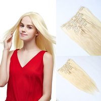Wholesale thickest hair extensions buy cheap thickest hair factory price 16 18 20 22 24 full head thickest 100g 220g remy clip in human hair extension 10pcs 22clips black brown blonde optional pmusecretfo Gallery