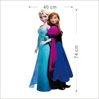 Elsa Anna Wall Stickers Decal Removable 74cm Tall Room Home ...