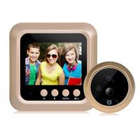 2,4 tum LCD Video-Eye Visual Monitor Door Peephole Motion Sensing Camera 160 graders VIEW Vinkel Trådlös Video Night Vision