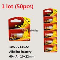 50 قطع 1 وحدة 10a 9 فولت 10A9V 9V10A L1022 البطاريات القلوية الجافة 9 فولت بطاريات استبدال بطاقة a23l vsai مجانية