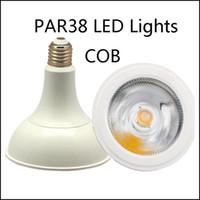 الجملة SMD / COB PAR38 LED أضواء 15W 18W LED PAR ضوء لمبة مصباح استبدال Hologen لمبة LED الإضاءة الاسمية مصباح السقف AC85-265V مصنع