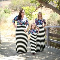 Mother Daughter Dress Striped Matching Mom Daughter Clothes ...