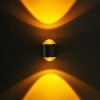 2W LED 벽 램프 마운트 크리스탈 볼록 렌즈 AC85-265V 드라이버 실버 알루미늄 욕실 침실 램프 포함