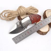 Мини складной нож открытый выживания карманный нож 3Cr13 лезвие сталь + деревянная ручка тактические ножи кемпинг охота EDC мульти инструмент