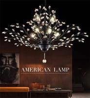 Светодиодные подвесные светильники хрустальные люстры Освещение подвесной светильник потолочный светильник люстра освещение крепление для гостиной отель Hall Call Mall