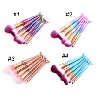 Mermaid Makeup Brushes 6PCS SET Makeup Brushes Kits Beauty 3...