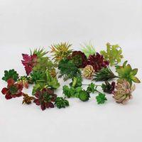 نباتات اصطناعية مع إناء بونساي الصبار الاستوائية وهمية نبات عصاري بوعاء مكتب ديكور المنزل زهرة وعاء