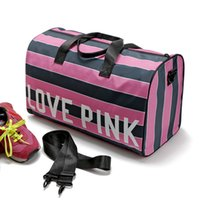 Women Love Pink Handbags Pink Letter Large Capacity Travel Y...