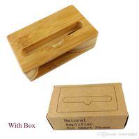 UI ® Вермий натуральный бамбуковый деревянный держатель для мобильного телефона Handmade Древесина для мобильного телефона Accessrios Деревянный динамик