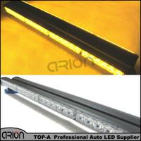 Auto Truck 48 LED 144W Både sida Magnetisk nödtrafikrådgivare Flash Strobe LightBar Warning Light Bar Lamp Grille Amber