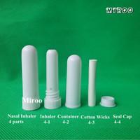 Бесплатная доставка 100 компл./лот производитель белый цвет пустой носовой ингалятор палочки с самым лучшим качеством хлопок фитили