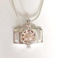 New Design Camera Pearl Pendant Mounting, 925 Sterling Silve...