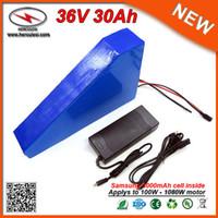 30A BMS Yüksek Kalite Üçgen 1080W E Bisiklet Lityum Batarya Elektrikli Bisiklet 36V 20AH Samsung 18650 Hücreli Li iyon pil