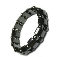 hot Magnetische Therapie, natürliche Brasilien schwarz gallstone Armband Gesundheitswesen Schlankheits Anti Müdigkeit Armband (Farbe: Schwarz)