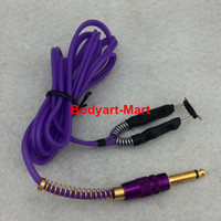 Wholesale- One Purple Silicone Tattoo Clip Cord For Tattoo Po...