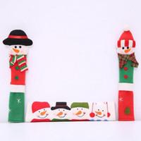 botão de geladeira Natal Frigorífico Porta Forno boneco Kitchen Appliance Handle cobre um conjunto de 3 de frete grátis