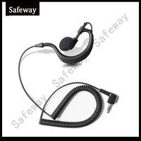 Plugue de 3.5mm G tipo Ouvir apenas fone de ouvido receber apenas fone de ouvido para baofeng walkie talkie em dois sentidos microfone falante de rádio