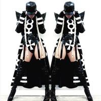 2017 женский костюм сексуальная ночь DJ этап одежда бар DS костюмы высокого класса атмосфера певица танец хип-хоп клуб набор певица танцовщица