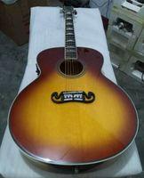 Freies Verschiffen Soem handcrafted 43-Zoll-riesige Akustikgitarre Jumbo-Tabakfarbe, feste gezierte Oberseite, China machte Gitarren J200